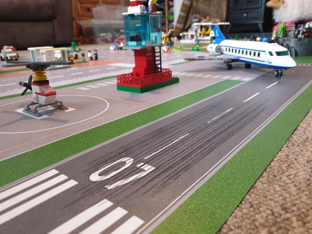 Speelmat met landingsbaan