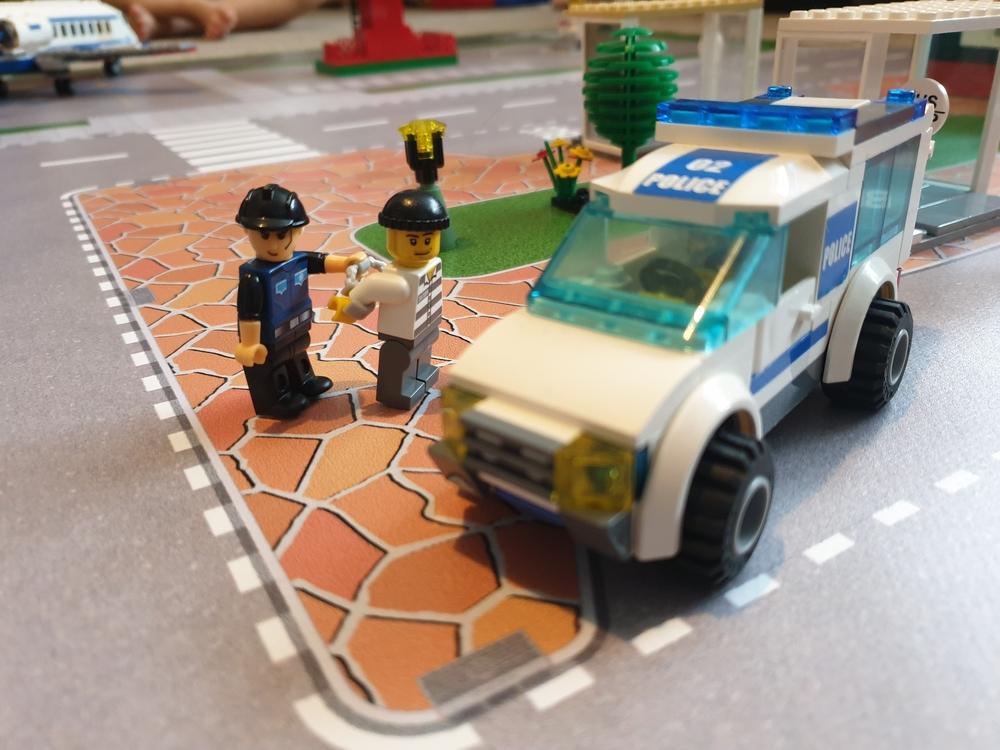speelmat lego politie