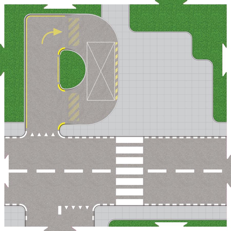 Speelplaat voor LEGO City Ziekenhuis 60204