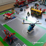 Speelmat voor LEGO City top view