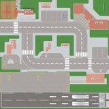 Speelmat voor verschillende LEGO sets City met gebouwafdruk