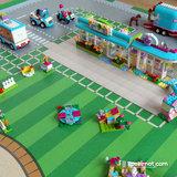 LEGO Friends Heartlake op speelmat ondergrond