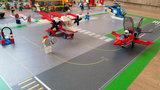 Speelmat voor Lego City met vliegveld en landingsbaan