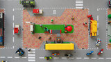 Speelmat voor Lego City plein met bushaltes