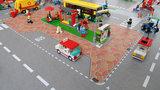 Speelmat voor Lego City plein met bushalte