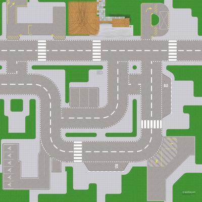 Speelmat voor LEGO City nr.10