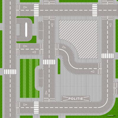 Speelmat voor Lego City wegen