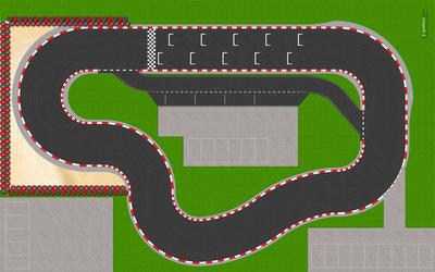 Speelmat voor LEGO Friends Go Kart