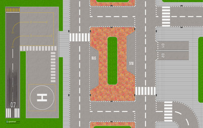 Speelmat voor LEGO City met park
