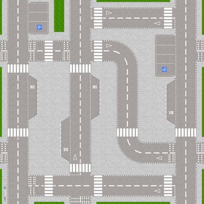 Speelmat voor LEGO City wegen II