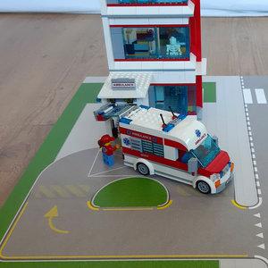 Speelplaat voor LEGO 60204 ZiekenhuisSPLC-60204